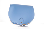 Baby Blue Classic Genuine 100% Leather Saddle Handbag (Cross-body) Available in many colours