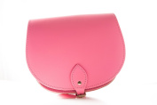 Pink Classic Genuine 100% Leather Saddle Handbag (Cross-body) Available in many colours