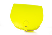 Neon Yellow Classic Genuine 100% Leather Saddle Handbag (Cross-body) Available in many colours