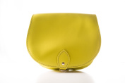 Lemon Yellow Classic Genuine 100% Leather Saddle Handbag (Cross-body) Available in many colours
