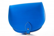 Blue Classic Genuine 100% Leather Saddle Handbag (Cross-body) Available in many colours