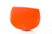 Bright Orange Classic Genuine 100% Leather Saddle Handbag (Cross-body) Available in many colours