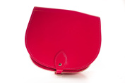 Red Classic Genuine 100% Leather Saddle Handbag (Cross-body) Available in many colours