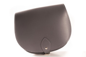 Grey Classic Genuine 100% Leather Saddle Handbag (Cross-body) Available in many colours