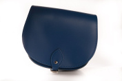 Navy Blue Classic Genuine 100% Leather Saddle Handbag (Cross-body) Available in many colours