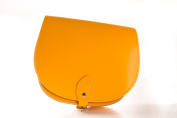 Bright Yellow Classic Genuine 100% Leather Saddle Handbag (Cross-body) Available in many colours