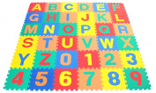 FunkyBuys®36pc Children's Kid's Soft EVA Foam Multicolors NUMBERS & ALPHABETS Complete Set Interlocking Play Matting Mats Jigsaw Puzzle Mats
