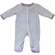 Silkberry Baby Bamboo Unisex-Baby Newborn Footie Sleeper Lilac 3-6m Colour