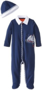 Little Me Baby-Boys Newborn Sailing Footie and Hat, Navy, 9 Months Colour