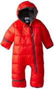 Columbia Unisex-Baby Newborn Frosty Freeze Bunting, Bright Red/Graphite, 6/12 Colour