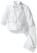 Joey Couture Baby-Boys Infant Tuxedo Suit No Tail, White, 18 Months/Large Colour