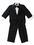 Infant Baby Toddler Boys Black Tuxedo with Tail Medium / 6-12 Months Colour