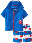 Wippette Baby-Boys Infant Crabby Cute Swim Trunk & Cover Up, Royal, 12 Months Colour