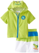 Wippette Baby-Boys Infant Turtle Swim Trunk & Cover Up, Lime, 12 Months Colour