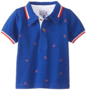 Kapital K Baby-Boys Infant Anchor Allover Polo, Blue Harbour, 24 Months Colour