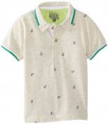 Kapital K Baby-Boys Infant Anchor Allover Polo, Whole Wheat, 12 Months Colour