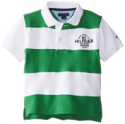 Tommy Hilfiger Baby-Boys Infant Short Sleeve Kent Pieced Polo, Gecco Grey, 18 Months Colour