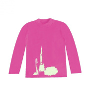 Inda-Bayi Baby-Toddler-Kids Cotton Long Sleeve T Shirt - glow in the dark rocket launch