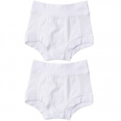 Oops! Undies Waterproof Bamboo Underwear White Training Pants 2 Pack (Ages 2-3 Fits 15 waist) Size