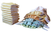 Close Newborn Box Pop-in Cloth Nappies Assorted Pastel Colours - 10 Absorbent Cores + 6 Outer Shells