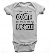 'If you think i'm cute, you should see my uncle' unisex babygrow bodysuit