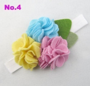 Baby Felt Flower Rose Headband Girls Felting Hairband