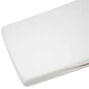 1x Cot 100% Cotton Jersey Fitted Sheet White 120 x 60 cm