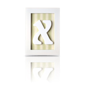 LETTER X - Individually Framed Baby Letters - with Blue, Pink and Green Backgrounds included for Free