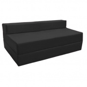 Fold Out Water Resistant Z Bed Sofa in Black. Soft, Comfortable & Lightweight with a Removeable Cover