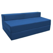 Fold Out Water Resistant Z Bed Sofa in Blue. Soft, Comfortable & Lightweight with a Removeable Cover