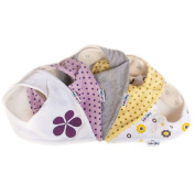 Lovjoy Bandana Baby Bibs - Pack of 5 Girls Designs