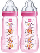 Mam 950501 Baby Bottle 330 ml 2-Pack For Girls