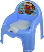 BLUE CHILDRENS POTTY CHAIR EASY CLEAN KIDS TODDLER TRAINING TOILET SEAT BOYS GIRLS