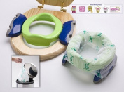 Potette Plus Baby Travel Potty - Green & Blue + Pack of 30 Liners!