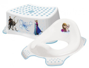 Disney Frozen Toddler Toilet Training Seat & Step Stool Combo - White