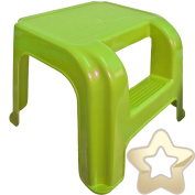 2 Step Stool - Potty Training - High for Little Legs - Strong for Adults - Green