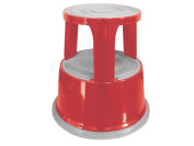 Q Connect Metal Step Stool - Red