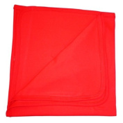 BabywearUK Baby Blanket - Cotton - Red - British Made