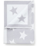 Pixie and Jack Cotton Baby Blanket Silver Grey with Stars