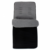 Baby Travel Essential Deluxe Snug Footmuff Cosytoes - Black/Grey