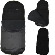 Universal Footmuff to Fit Maclaren Techno XT/ Quest / XLR / Volo Black