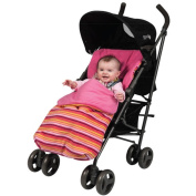 Red Kite Cosy Toes Stroller Fleece, Pink Stripe