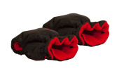 Baby Pushchair/Pram/Stroller Hand Warmer Mitts / Gloves - Black / Red