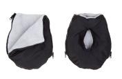 Altabebe AL2801 - 12 Muff Gloves for Pram Black/Light-Grey