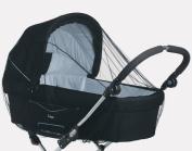 BabyDan Twin Pram Mosquito Net Black