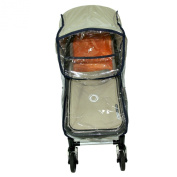 NEW BABY CHILD PRAM BASSINET and seat unit RAIN COVER fits BUGABOO black