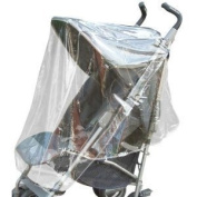 Guilty Gadgets ® - Push Chair Pushchair Stroller Pram Buggy Snow Wind Rain Cover Transparent Universal Drizzle Protection