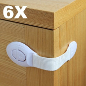 BBAC015 HSN 6X Baby Blue Drawer Cupboard Cabinet Door Drawers Lengthened Safety Lock Latch