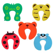 Beyondfashion 5x Baby Kids Door Jammer Finger Pinch Guard Child Toddler Infant Safety Protector Stopper Cute Animal Designs