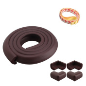 TechnoTec® Baby Table Edge Guard Protector With 4 Corners In Different colours High Quality (Brown